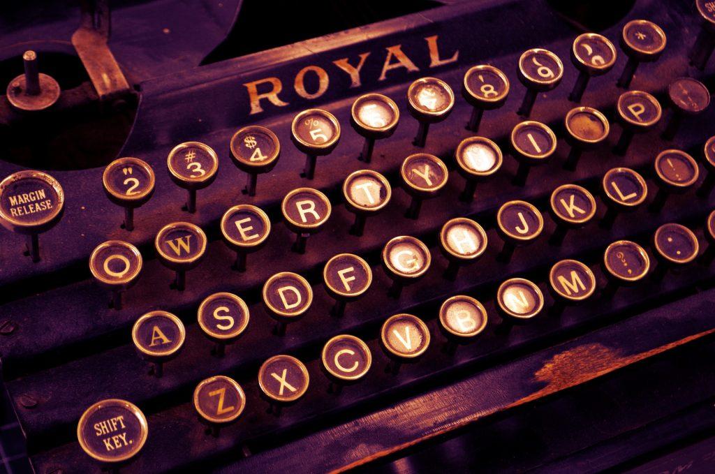 Teclado de máquina de escribir Royal