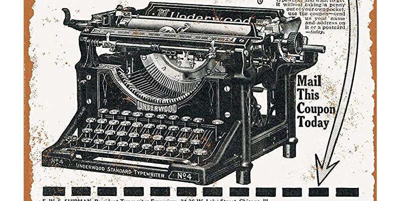 Caja de la máquina de escribir Underwood 4
