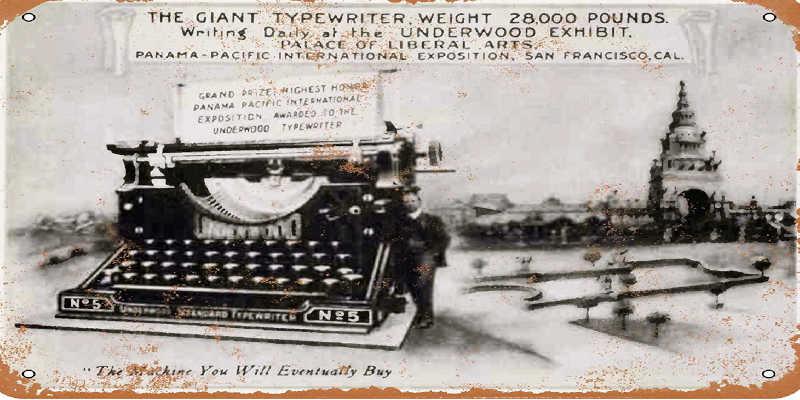 Placa de la máquina de escribir Underwood