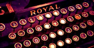 teclado máquina de escribir Royal